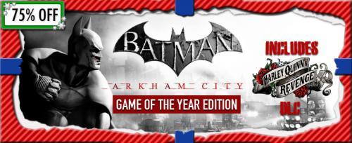 Batman Arkham City - GOTY Edition für 7,49€ @GetGamesGo