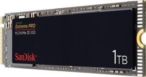 SanDisk Extreme Pro 1TB NVMe SSD (M.2, 3D-NAND TLC, PCIe 3.0 x4, 3400MB/s Lesen, 2500MB/s Schreiben) für 129,99€ / 500GB für 74,99€ [Amazon]