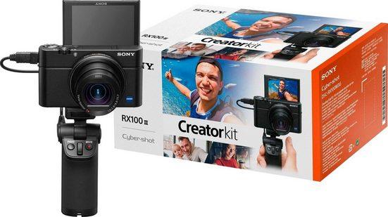 Sony »DSC-RX100 III G« Kompaktkamera (24-70mm Carl Zeiss Vario Sonnar T* Objektiv (F1.8-F2.8), inkl. VCT-SGR1 Stativgriff