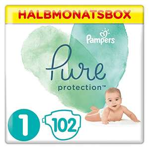 Pampers Pure Protection Windeln, Größe 1,2,3,4,5 [Amazon] im Sparabo