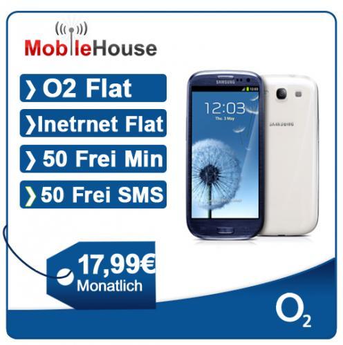 Samsung Galaxy S III GT-I9300 16 GB - white or blue or red O2 Blue XS für 17,99€
