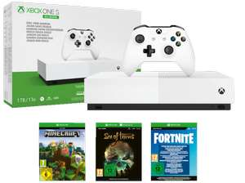 [Mediamark/Saturn-Paydirekt /Für Clubmitglieder schon jetzt!] MICROSOFT Xbox One S 1TB – All Digital Edition für 89,-€
