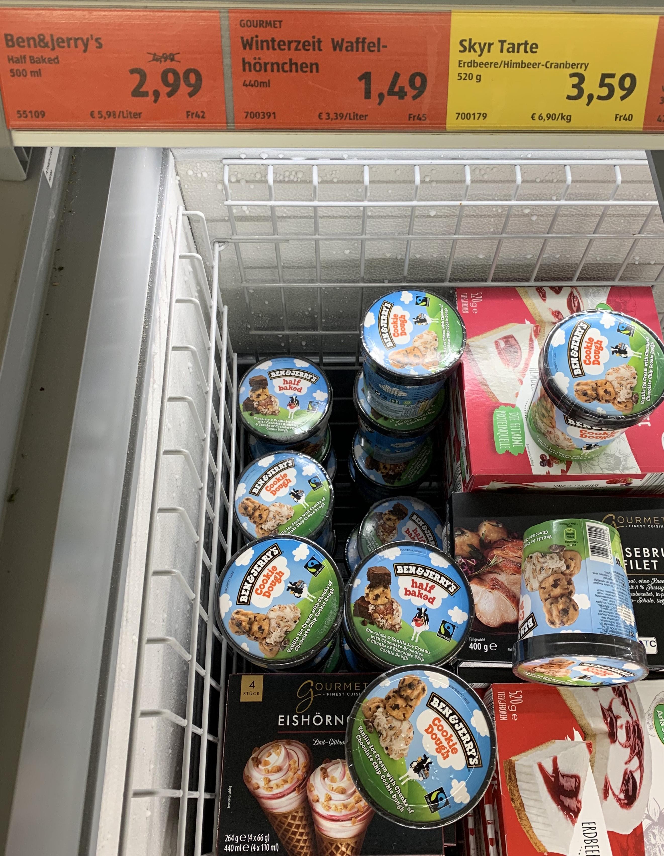 [Offline - Aldi Süd] Ben & Jerry's Eiscreme Cookie Dough / Half Baked