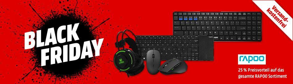 25% auf alles von RAPOO bei Media Markt und Saturn zB. RAPOO VH200 Stereo-Headset für 24,50€