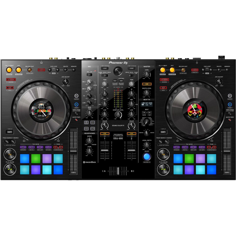 Pioneer DDJ-800: DJ-Controller (2-Kanal, 16 RGB Pads, 2x Line / 2x Mic / 1x AUX)