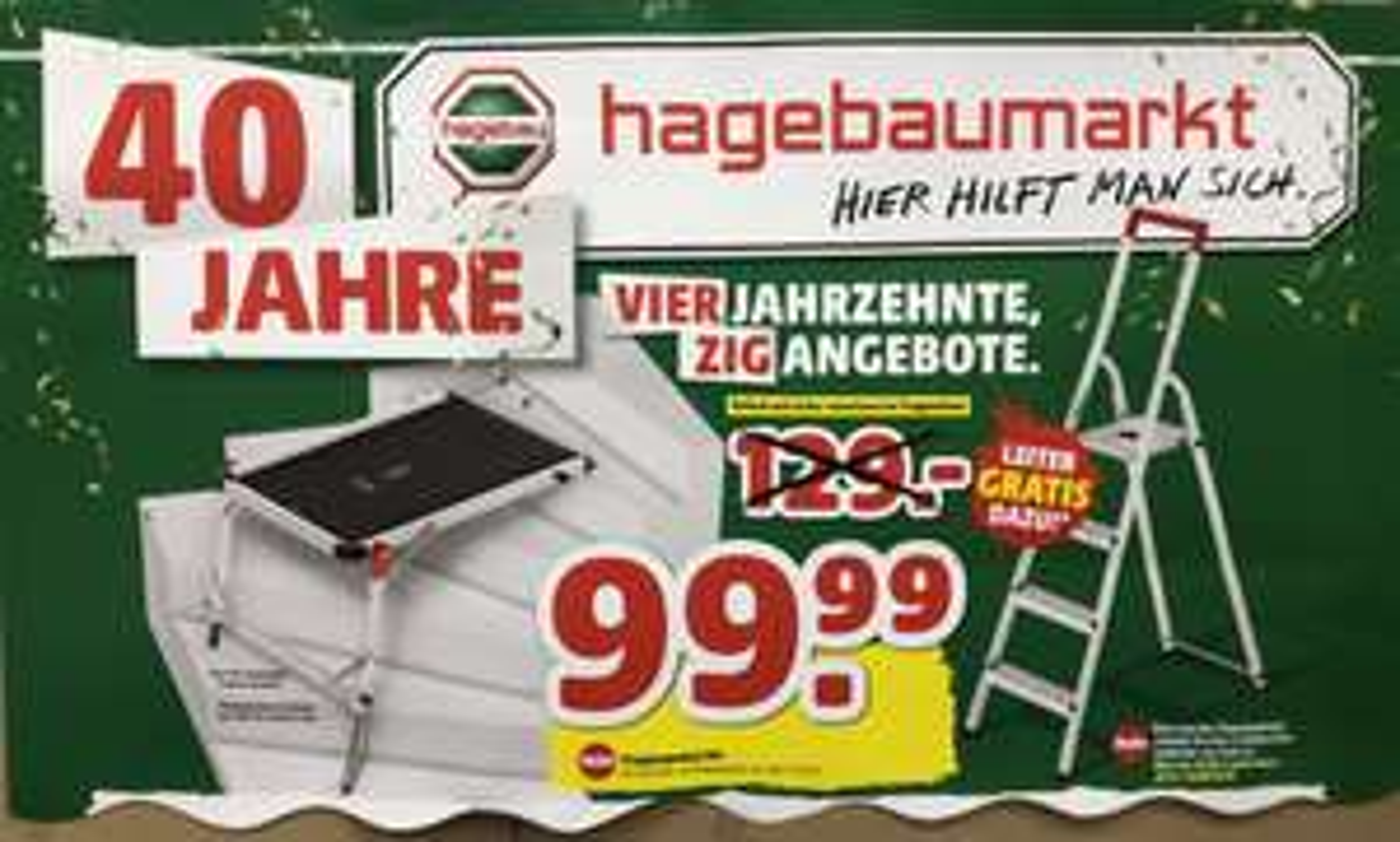 (Lokal Scharbeutz) Hailo Treppenpodest + Gratis Haushaltsleiter (Wert 29,90)