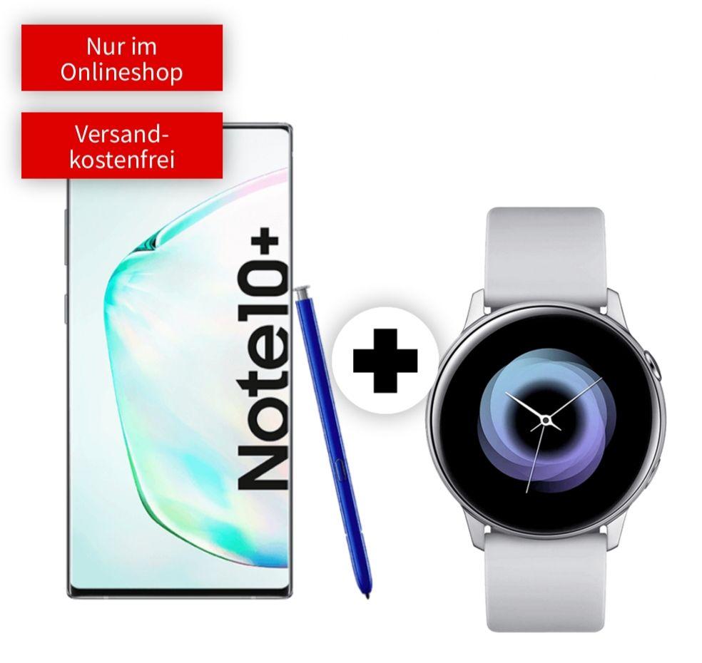 Samsung Galaxy Note 10 Plus mit Watch Active im Debitel Vodafone (8GB LTE) mtl. 31,99€ einm. 99€ | Note 10 26,99€ mtl. 6GB Telekom