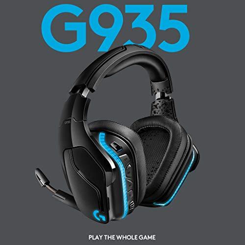 Logitech G935 Kabelloses Gaming-Kopfhörer (mit 7.1 Surround Sound, 50 mm Pro-G Klangtreiber) [Amazon]
