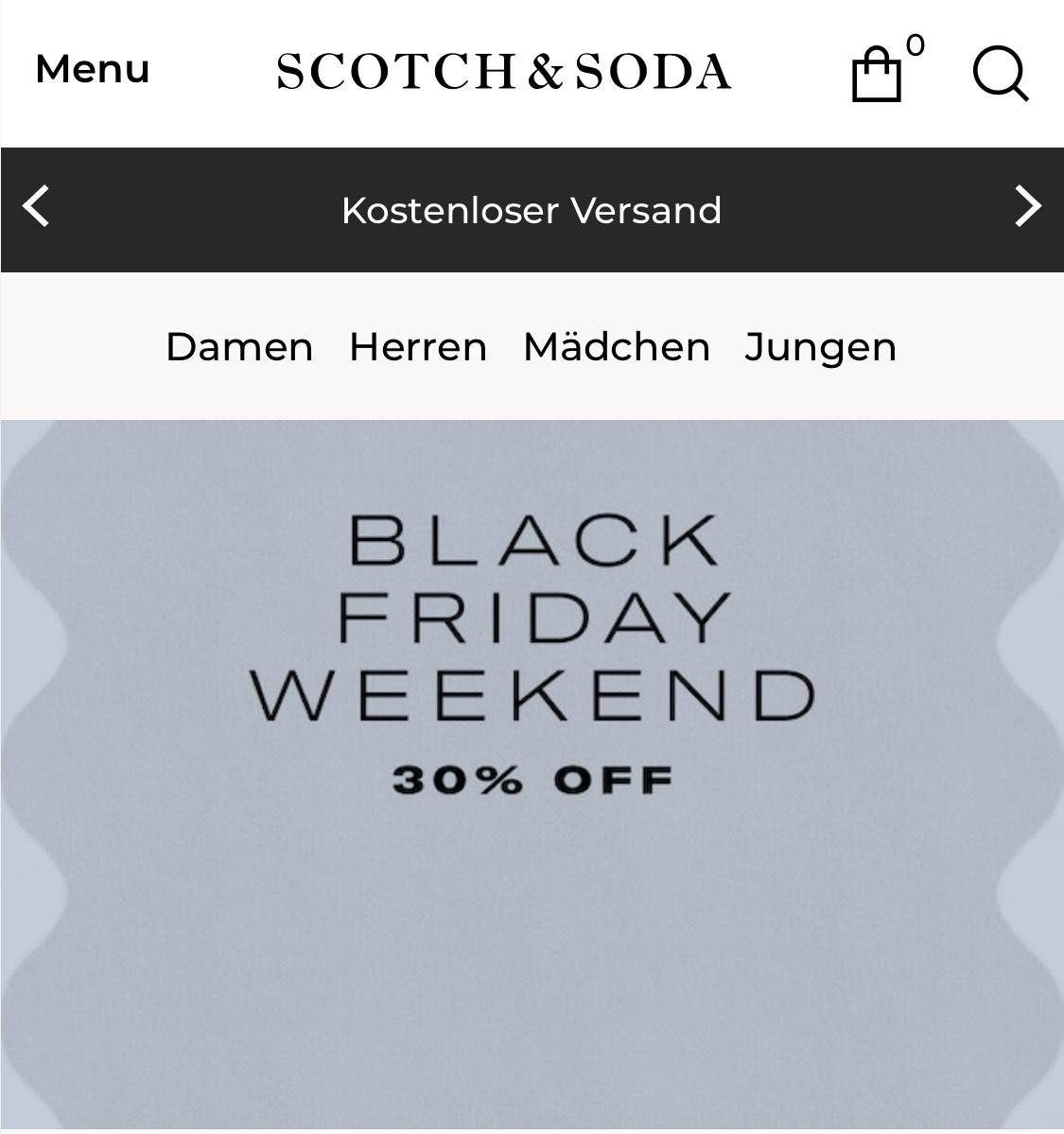 30% bei Scotch & Soda (neueste Kollektion ausgenommen)