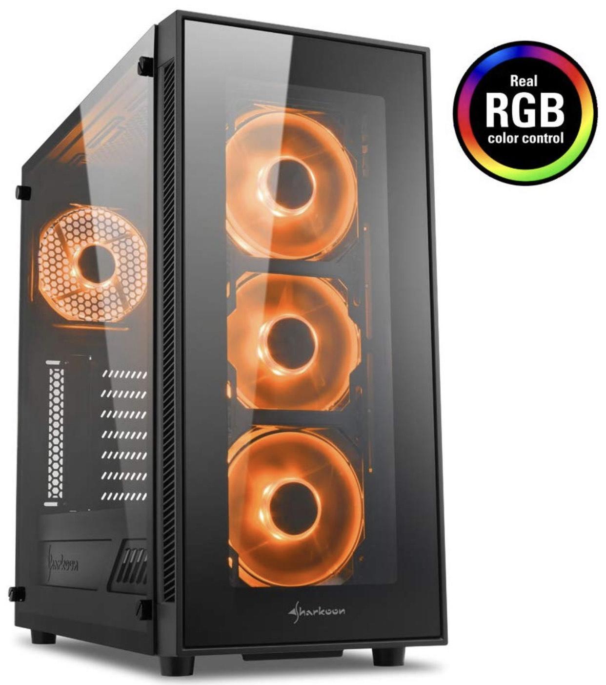 Sharkoon TG5 RGB PC Gehäuse Gaming mit RGB bei Alternate | 44,90€ mit paydirekt