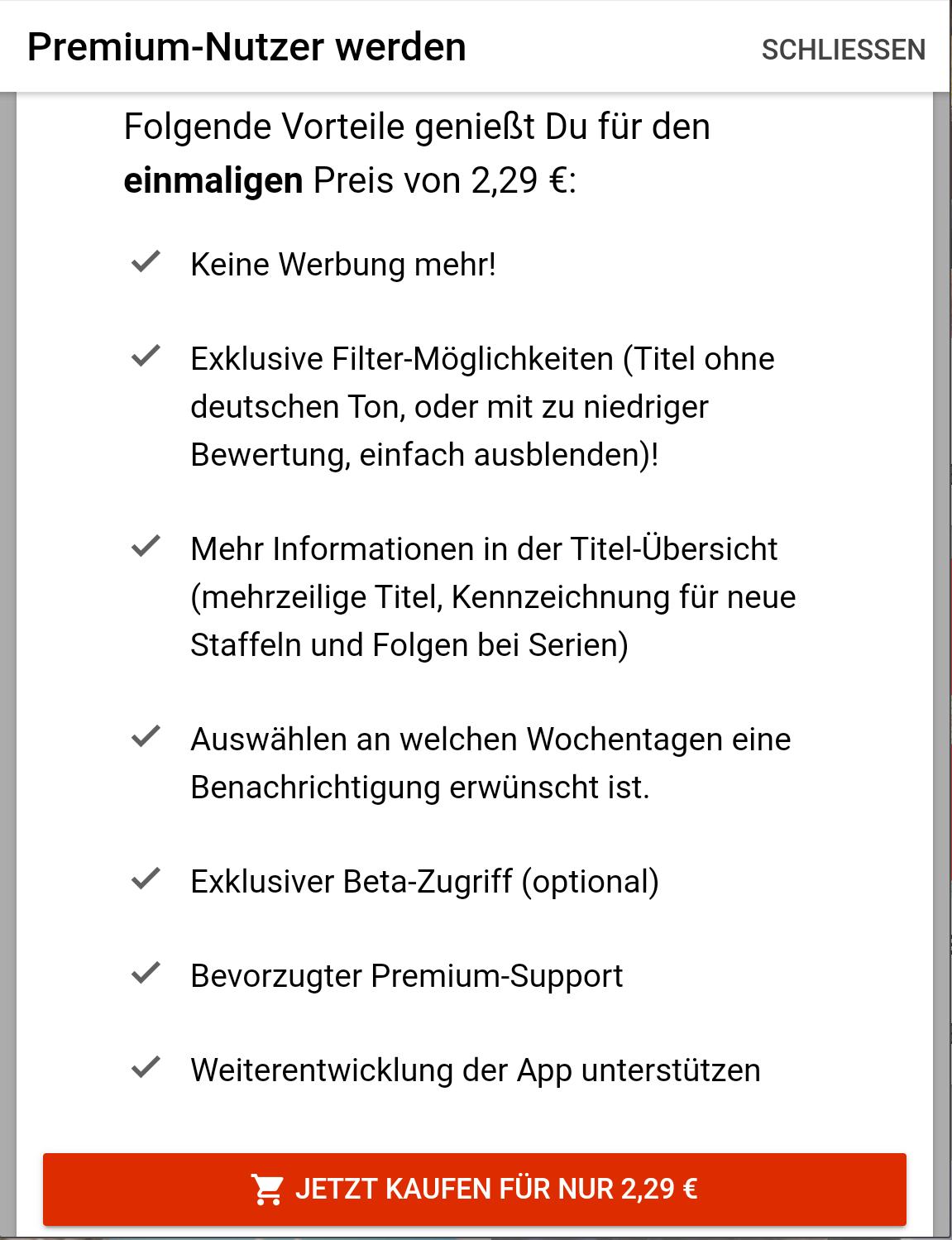 """Die App WHATSONFLIX? am Black Friday Premium fast zum halben Preis """"(Android & iOS)"""""""