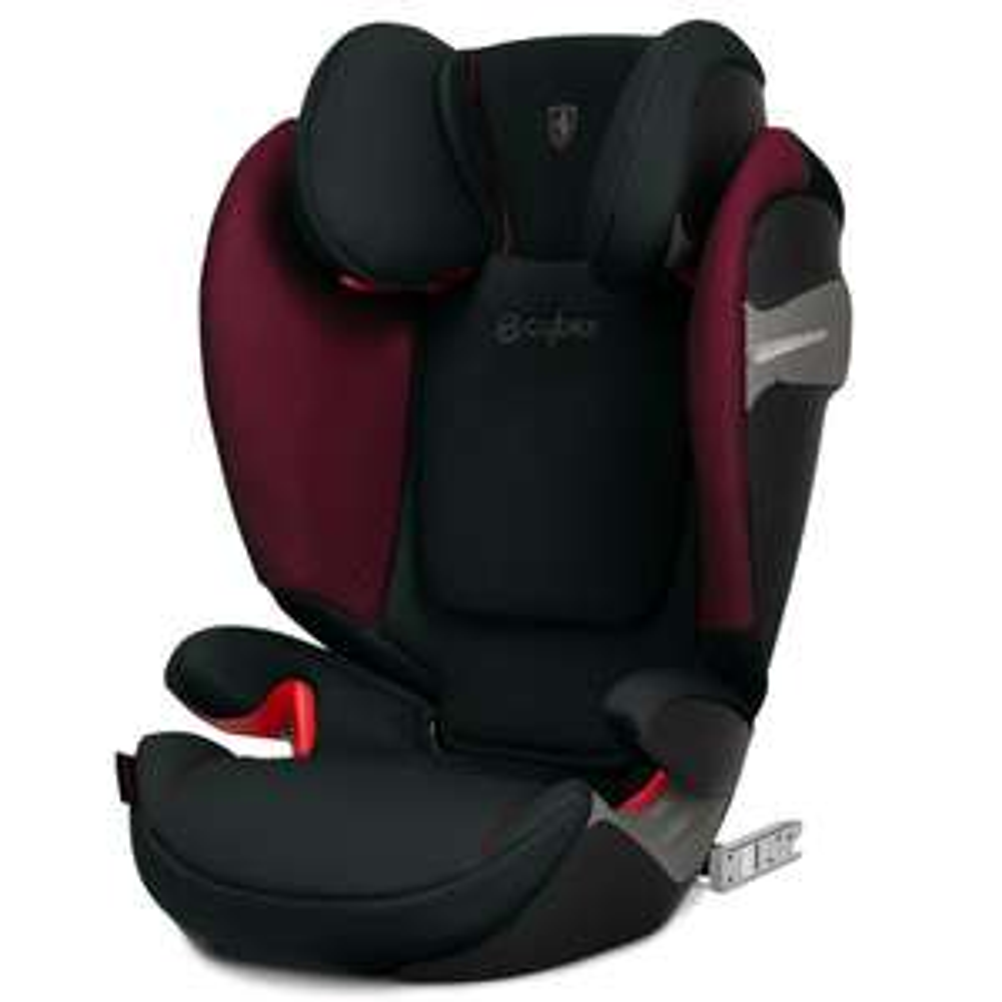 CYBEX GOLD Kindersitz Solution S-Fix Scuderia Ferrari Victory Black für Autos mit & ohne Isofix, Gruppe 2/3 (15-36 kg), ab 3 bis 12 Jahre
