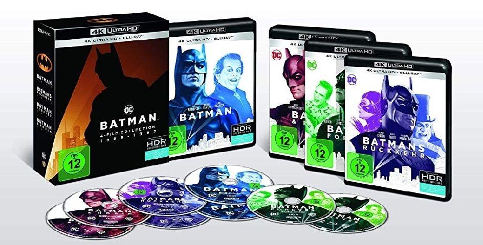 Batman 1-4 - 4K Collection (4K Ultra HD s)