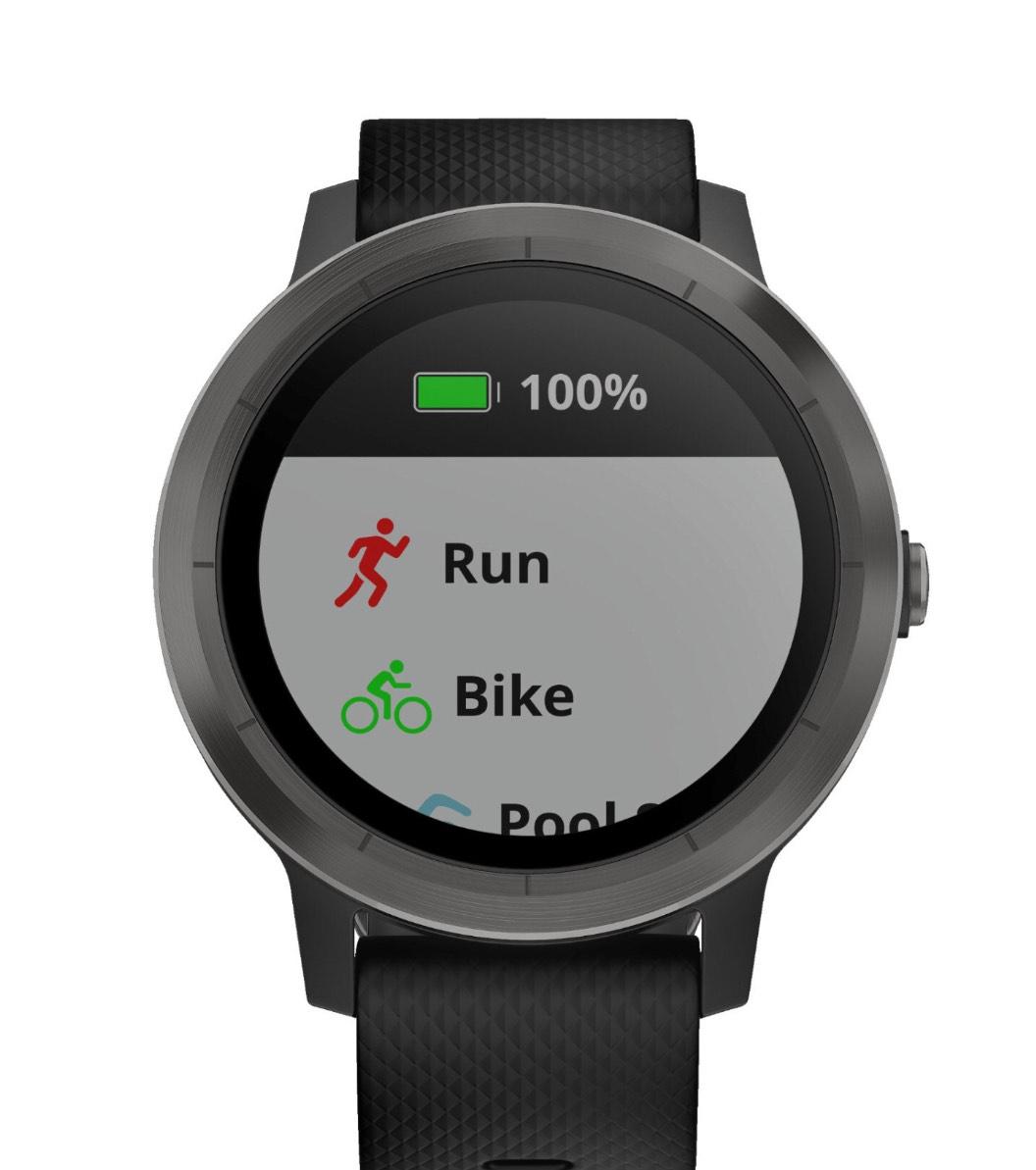 GARMIN vívoactive 3, Smartwatch, Silikon, 127-204 mm, Grau/Schwarz - versandkostenfrei