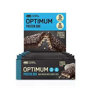 ( Amazon Prime ) PumpItUp 10x Optimum Nutrition ON Protein Bar Low Carb High Protein Riegel mit Whey Protein Isolate
