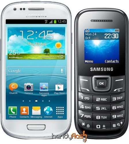 S3 mini mit Duo-Vertrag, SamsungE1200 zusätzlich dazu + 200 Freiminuten/Monat