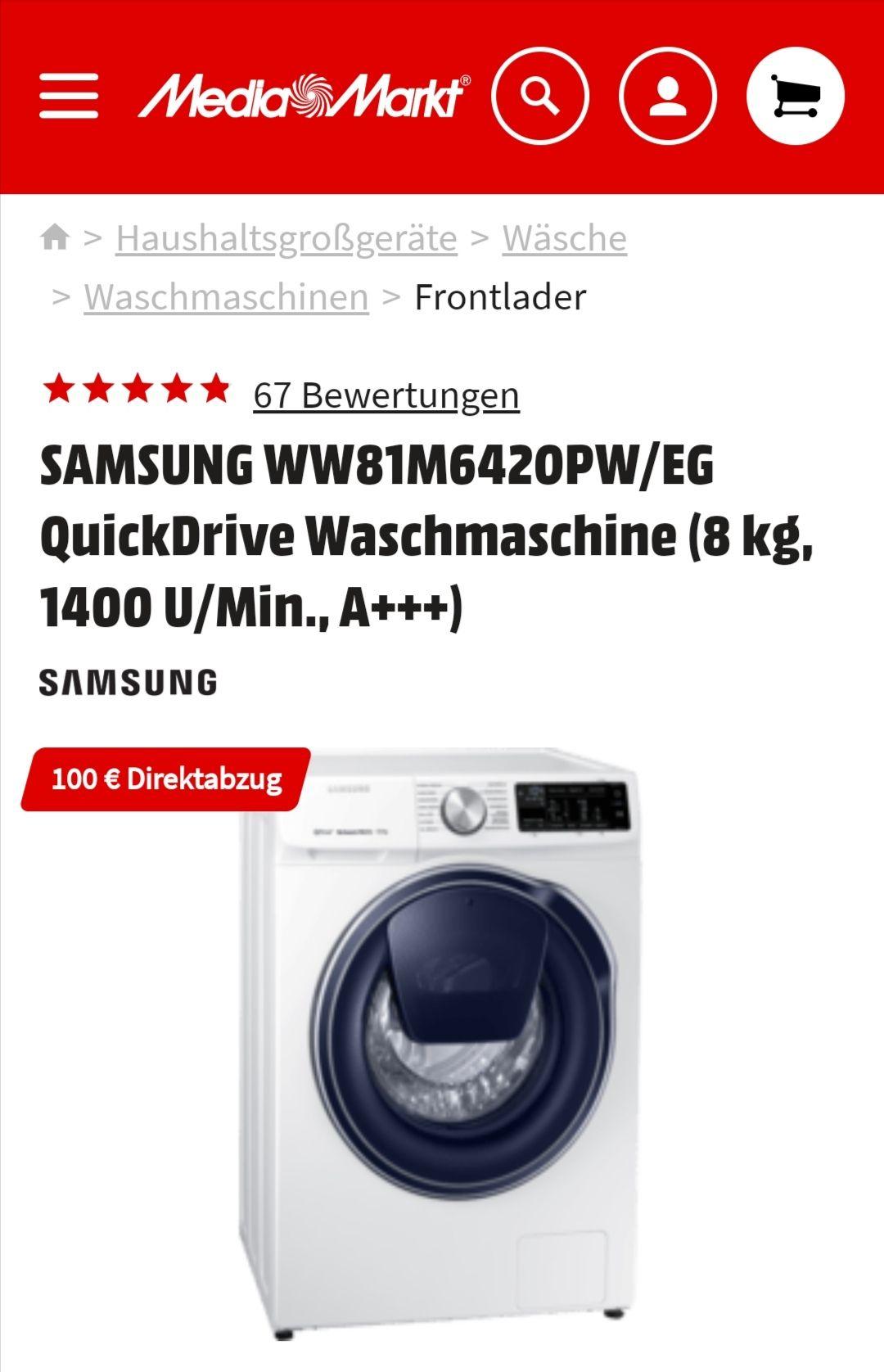 Samsung WW81M642OPW