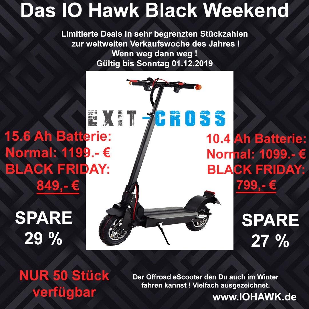 IO-Hawk Exit Cross *Straßen zugelassener E-Scooter*