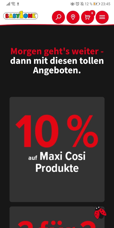 10 % aus Maxi Cosi Produkte