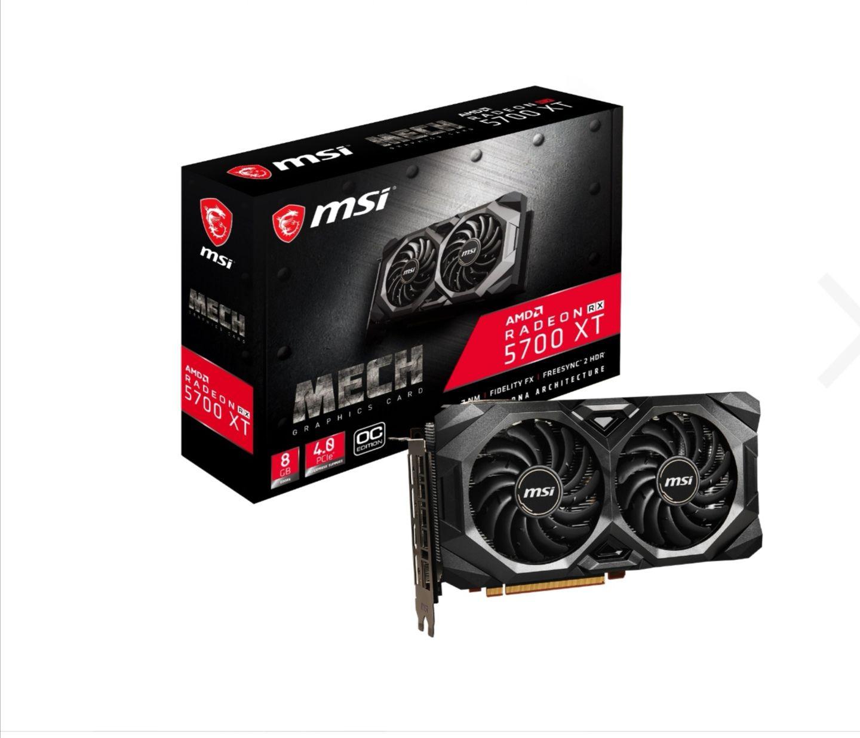 MSI Radeon RX 5700 XT Mech OC Grafikkarte - 8GB GDDR6 für 377,10€ bei Notebooksbilliger