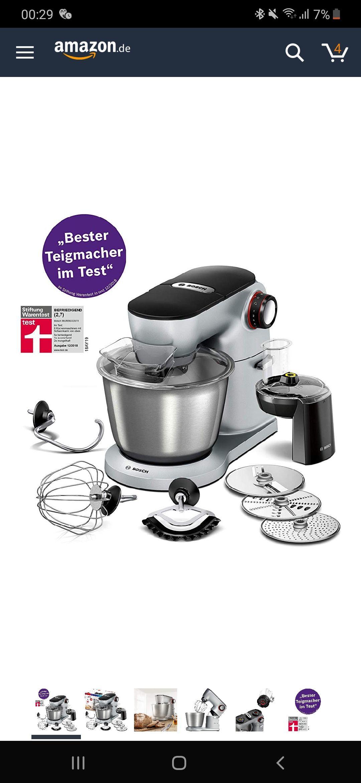 Bosch MUM9D33S11 Optimum Küchenmaschine 1300watt