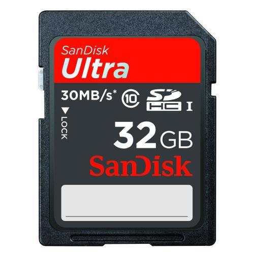 SanDisk Ultra (30MB/s) SDHC 32GB Class 10 für 18,40€