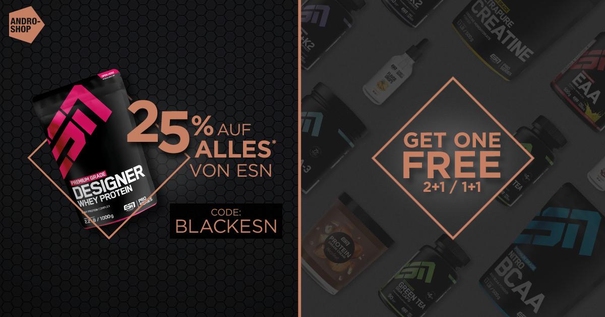 Buy 1 get 1 free für ESN Creatin & weitere [TEAM-ANDRO Shop]