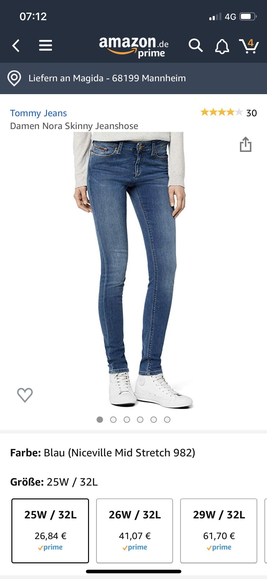 """Tommy Jeans in der Größe """"25W/32L"""""""