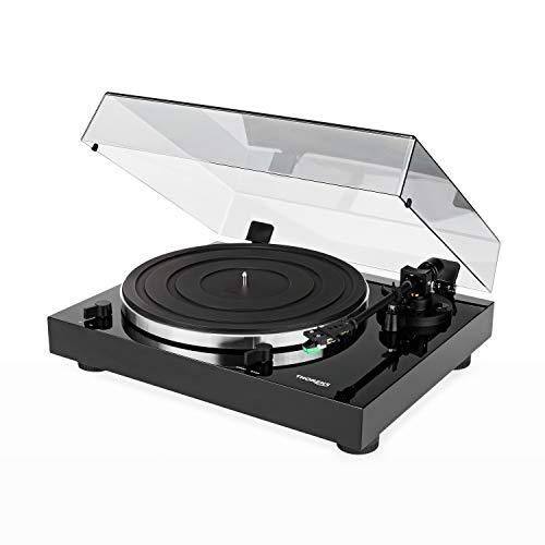 Thorens TD 202 manueller Plattenspieler (Schwarz) + Tonabnehmer AT95