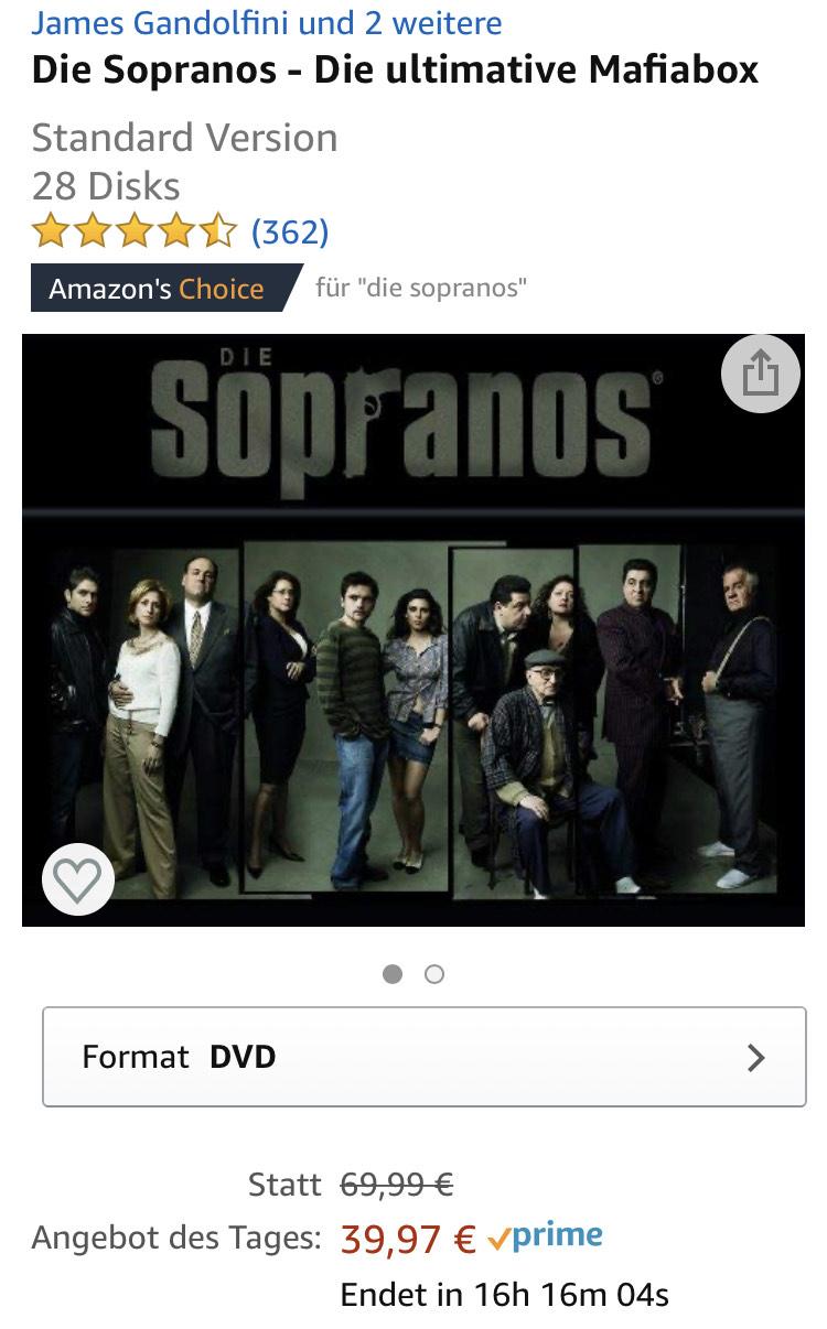 Die Sopranos - Die ultimative Mafiabox DVD Box