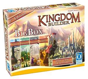 Kingdom Builder Big Box 2nd Edition - Basisspiel mit allen Erweiterungen und Queenies