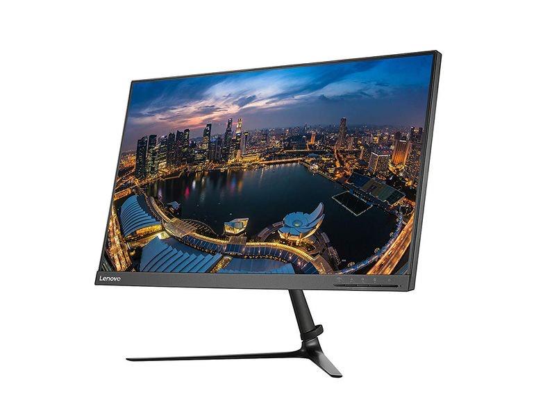 Lenovo L24i, Full HD IPS Monitor, schlank, schmaler Rahmen seitlich und oben...