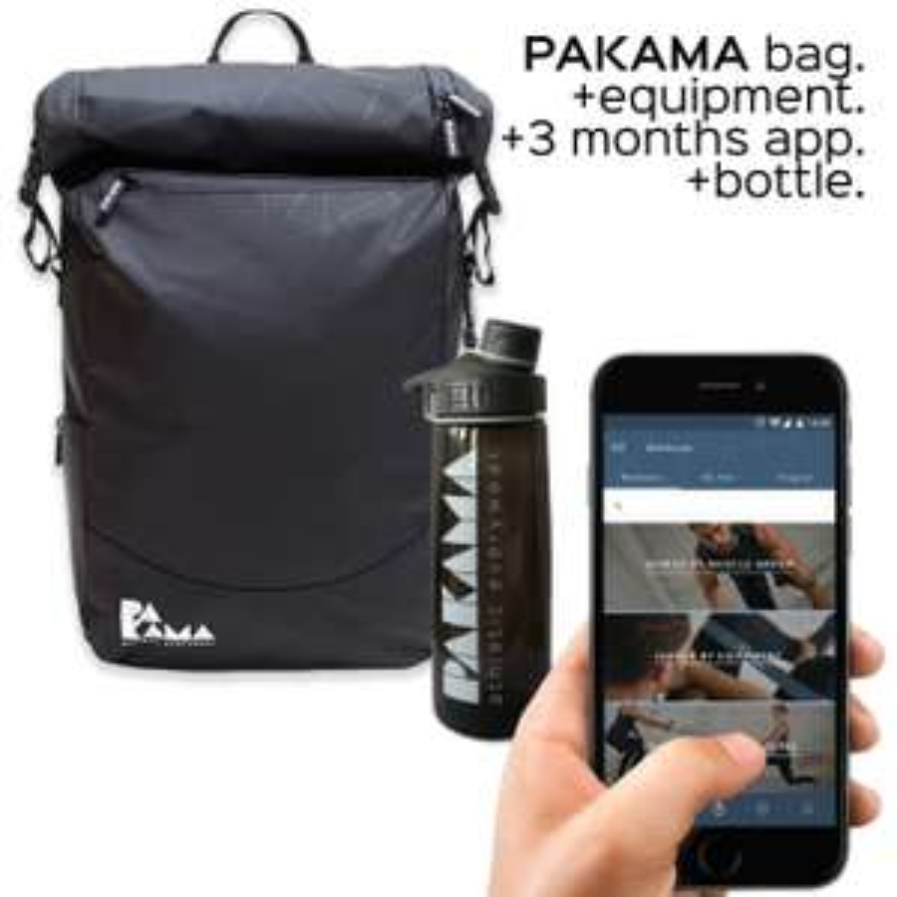 80€ auf den PAKAMA Sportsbag .Rucksack + Fitness-Tools + App im Black Weekend Special