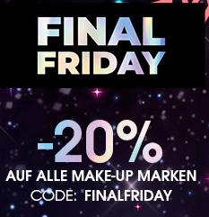 20% auf alle Makeup Marken (auch HUDA und Fenty) + Versandkostenfrei!