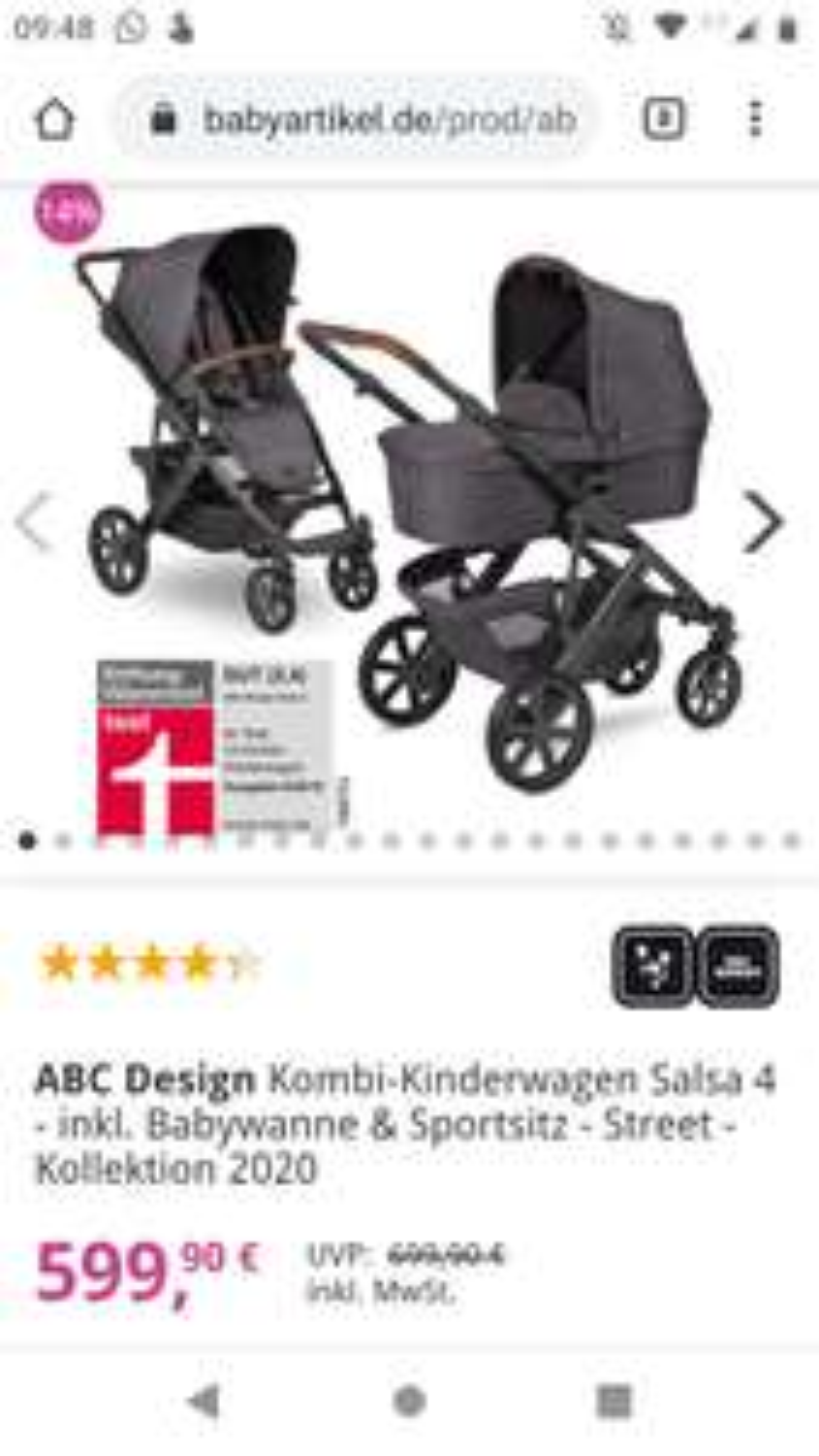 Kinderwagen ABC Design Salsa 4 street Kollektion 2020