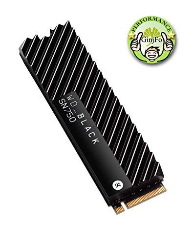 Western Digital WD Black 2 TB SN750 NVMe SSD mit Heatsink interne Festplatte