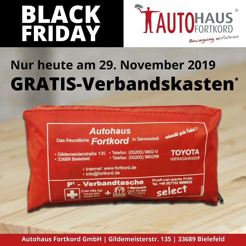 [LOKAL] Bielefeld: Neuer Verbandskasten im Tausch gegen alten bei Autohaus Fortkord