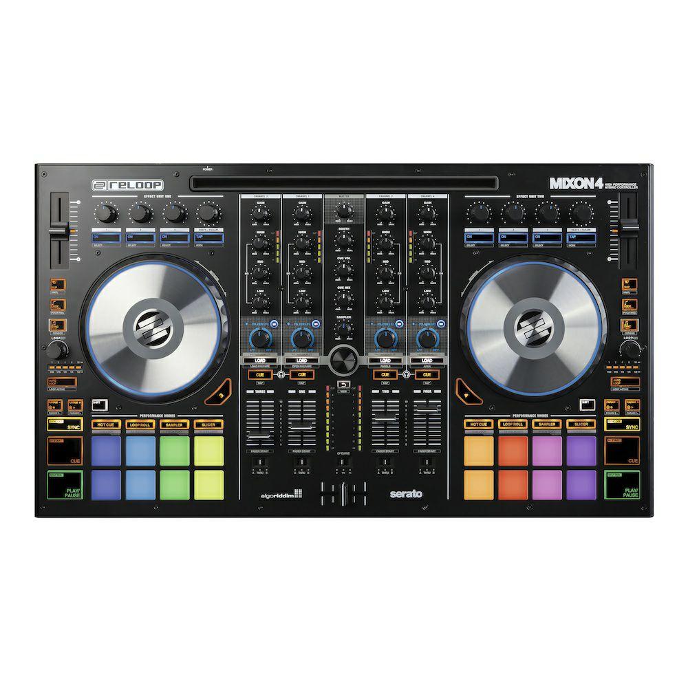 Reloop Mega-Sale | z.B Reloop Mixon 4: DJ-Controller (4-Kanal, 8 Performance RGB Pads, Serato DJ Pro)