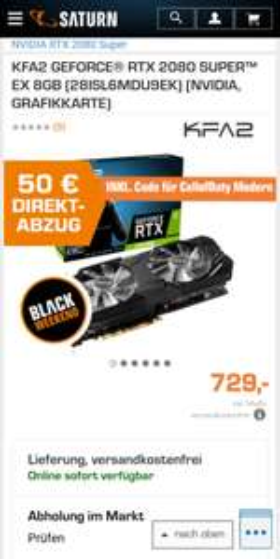 KFA2 GEFORCE® RTX 2080 SUPER™ EX 8GB (28ISL6MDU9EK) (NVIDIA, GRAFIKKARTE)