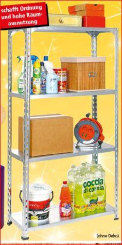 Metall-Kellerregal 160kg, 150x75x30, 4 Böden für 10 Euro [Thomas Philipps]