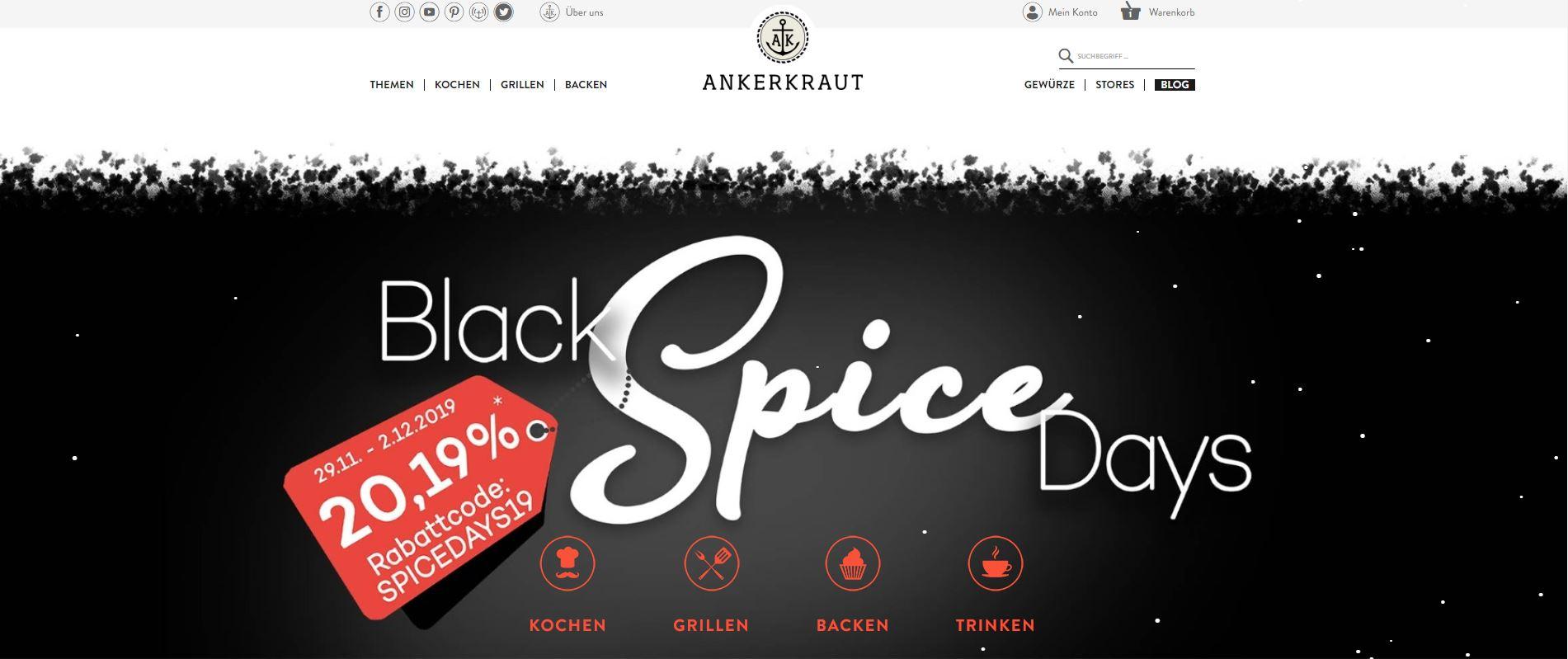 Black Spice Day: 20,19% Rabatt auf alle Ankerkraut Produkte