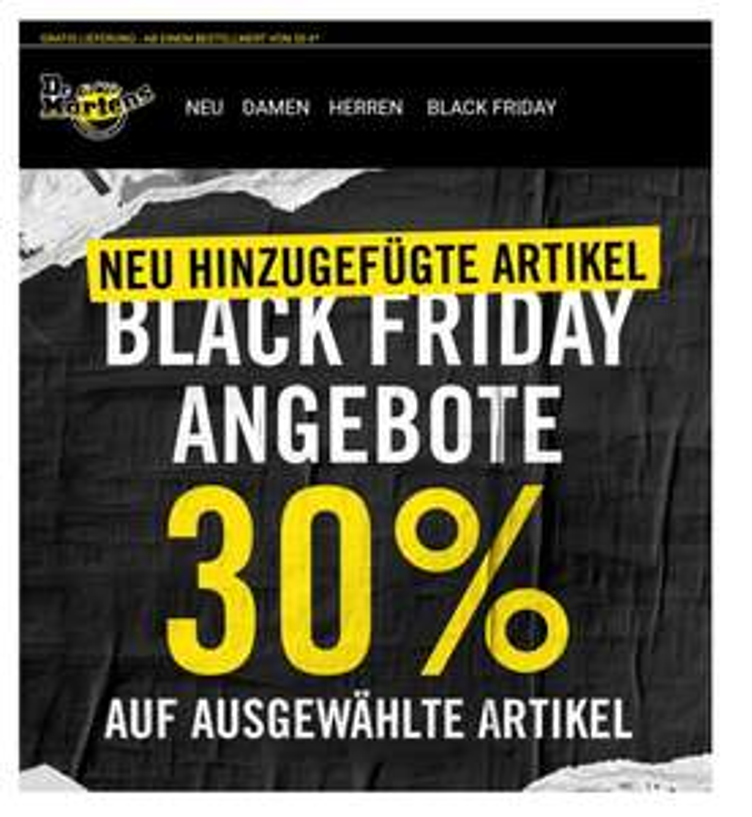 Black Friday Angebote bei Dr. Martens bis zu 30% sparen
