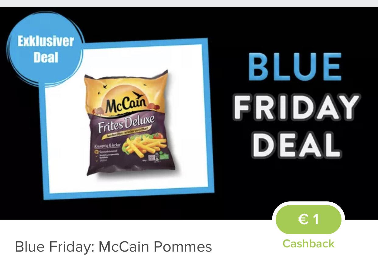 [Marktguru] 1€ Cashback auf Pommes der Marke McCain