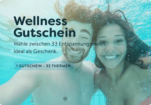 blackfriday watado.de Wellnessgutschein - 33 Thermen inkl. Hotelübernachtung (SHOOP) Übernachtung + Tageskarte inkl. Sauna* für Zwei
