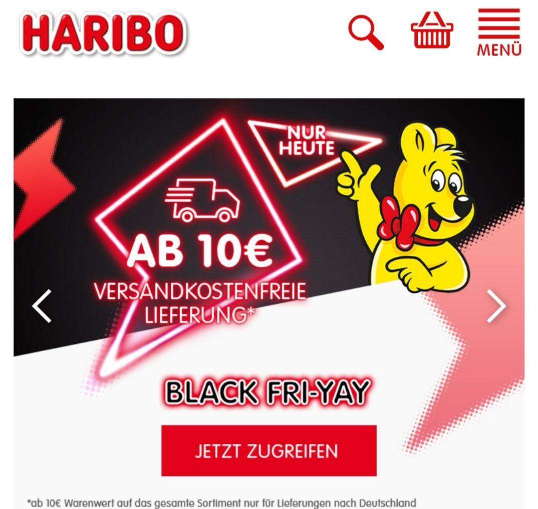 HARIBO Onlineshop ohne Versandkosten ab € 10.00 Einkaufswert