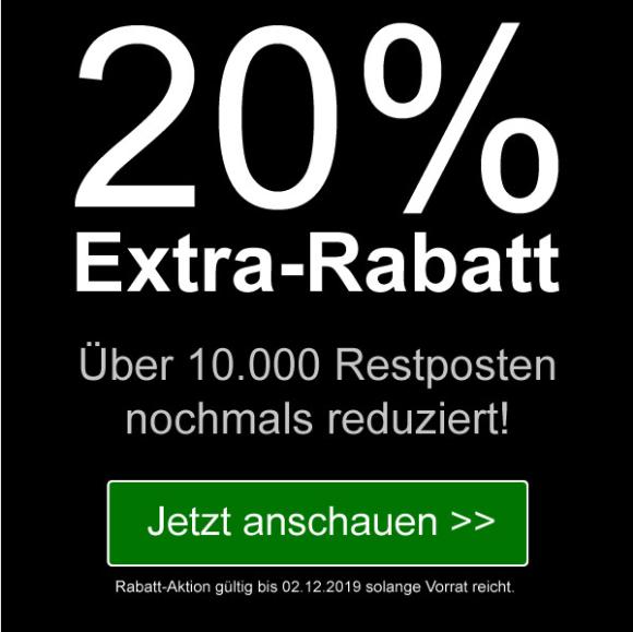[SAMMELDEAL] terrashop: 20% Extra-Rabatt: 10.000 Restposten nochmals reduziert. Angebote für 0,79€: Bücher, Spielwaren, Filme, Hörspiele