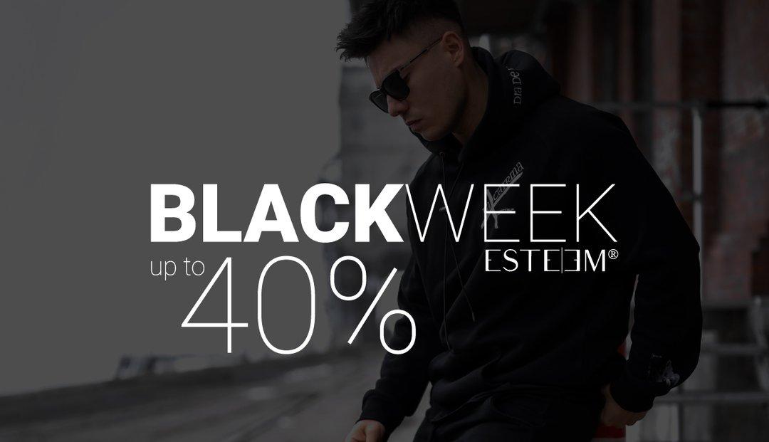 Black Weekend bei ESTEEM Clothing: Bis zu 40% auf alles!