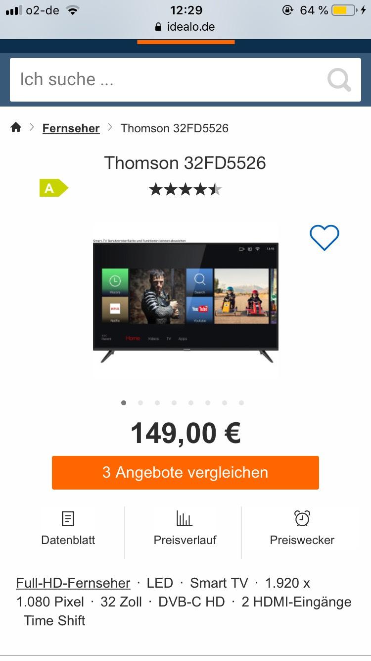 Thomson 32 Zoll Full-Hd 1.920x1.080 Smart