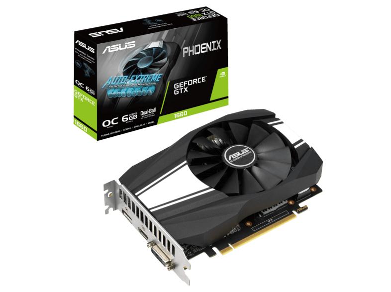 ASUS GeForce® GTX 1660 Phoenix OC 6GB für 175€ inkl. Versand mit Paydirekt (MediaMarkt)