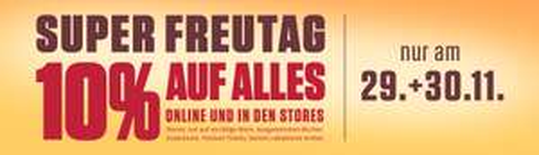 SUPER FREUTAG bei Elbenwald - 10% auf ALLES (29.11. + 30.11.)